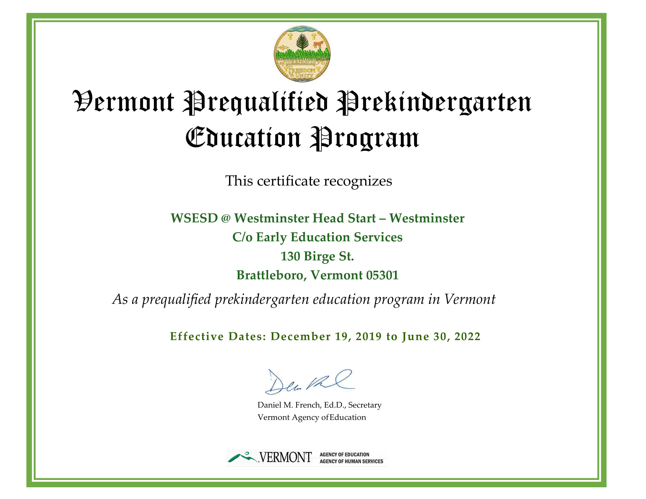 Approval WSESD @ Westminster Head Start - Westminster Certificate 2019 (2)-1