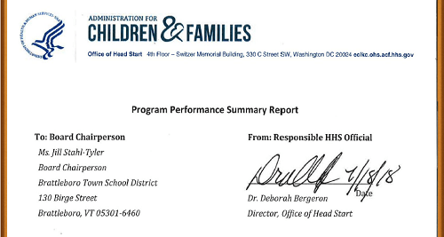 Clipping of the Program Performance Summary Report